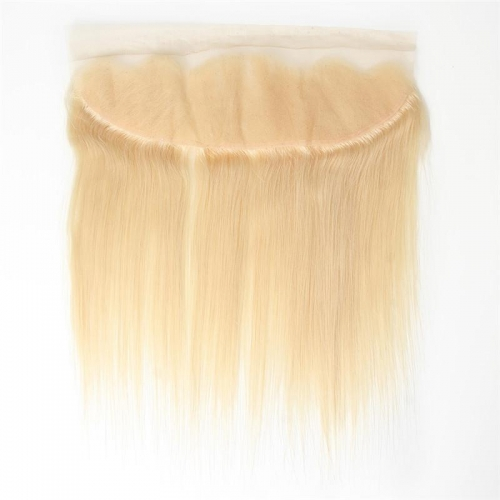 100% Human Hair #613 Blonde 13x4 Lace Frontal Straight with Baby Hair