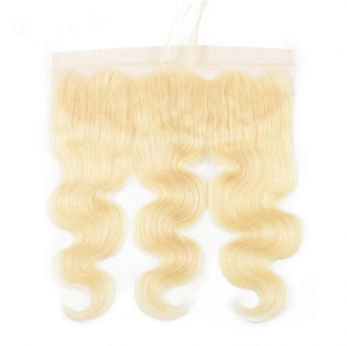 100% Human Hair #613 Blonde 13x4 Lace Frontal Body Wave with Bady Hair