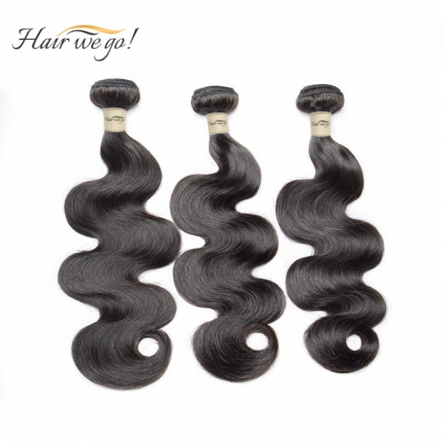 (3PCS)100% Human Hair Natural Color Body wave Bundles-9A