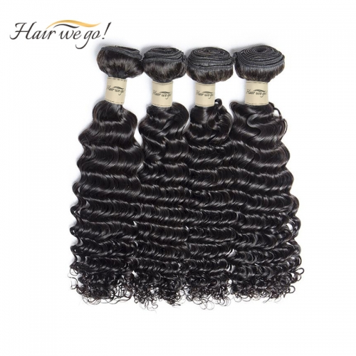(3PCS)100% Human Hair Natural Color Deep wave Bundles-9A